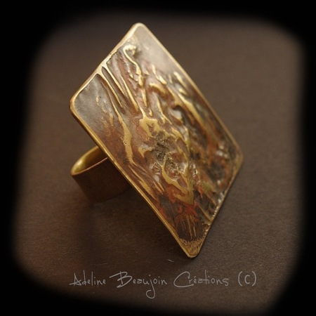 Bague contemporaine laiton