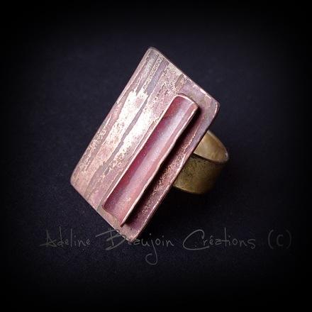 bague cuivre contemporaine