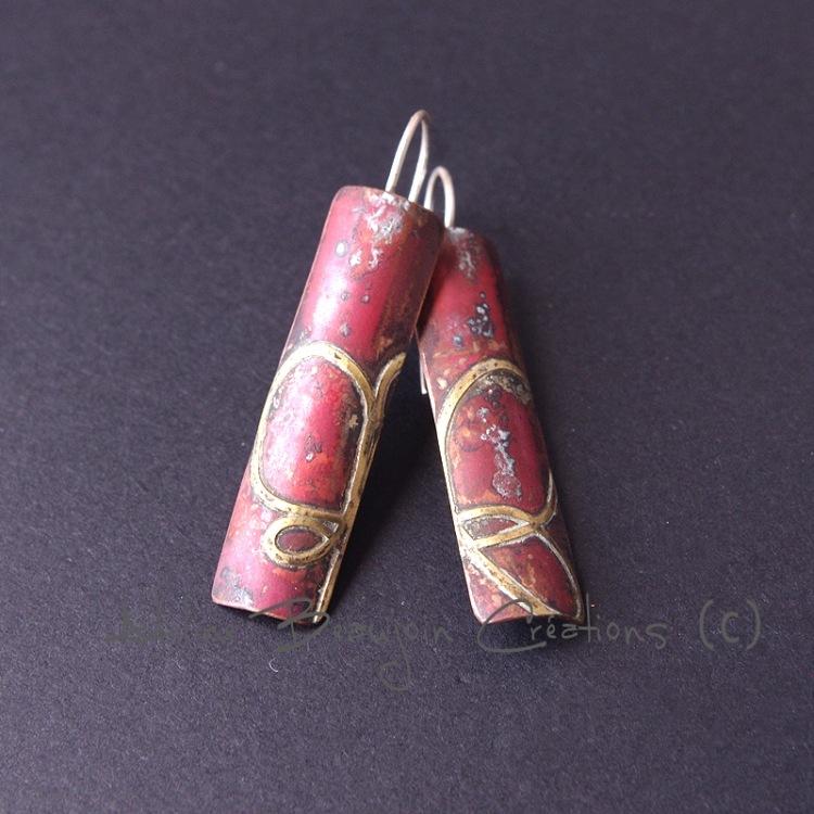 boucles oreilles cuivre bijou contemporain