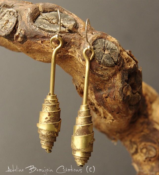bouucles oreilles bijou femme argent cuivre laiton