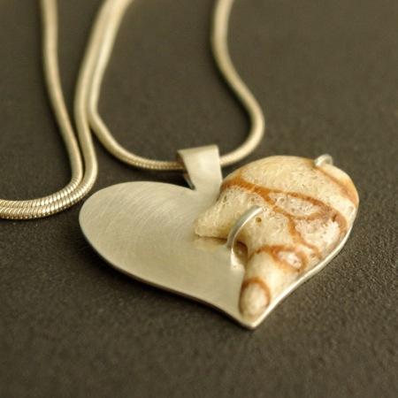 pendentif createur argent corail