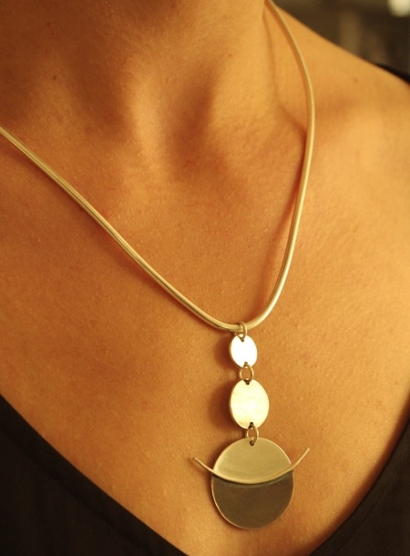 collier argent createur contemporain unique original